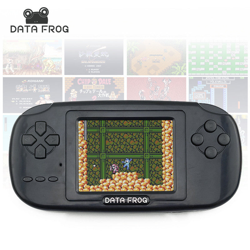 Data Frog Handheld Game Players with 168 Built in Games 3 inch Screen Game Console 8bit Portable Game Consoles