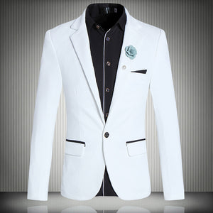Brand Clothing Suit Jacket men's business blazers casual terno masculino chaqueta americana hombre men jacket Plus Size M-5XL