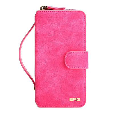 Multifunction Wallet Leather Case For Samsung S4 S5 S6 S7 S7 EDGE NOTE4 NOTE5 Zipper Purse Pouch Phone Cases Lady Handbag Cover