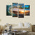 4 Panels Framed Sea wave Scenery Wall Art Pictures Print On Canvas Painting For Home Kitchen Decoration