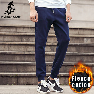 Pioneer Camp new casual men pants brand clothing fashion Autumn winter trousers male sweatpants baggy Fleece warm pants men