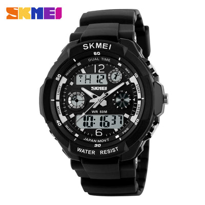 SKMEI Luxury Brand Men Sports Watches Digital Led Sport Wristwatches 50m Water Resistant Relogio Masculino For Mens Quartz Watch