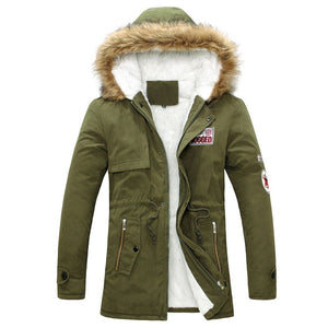 2016 Parka Men Winter New Style Warm Men's Jacket Thick Warm Fur Collar Long Cotton Jacket Men Comfortable Cotton Hooded Parkas