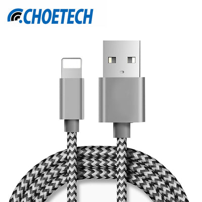 For iPhone Cable,2.1A Fast USB Charger Cable Mini USB Smart Charging Cable for iPhone 7 7 Plus 6S 6Plus 5 5S iPad 4 2 3 Air iPod