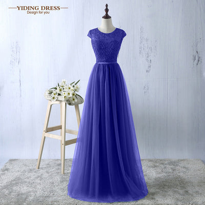 Green Evening Dress 2017 New Arrive Lace Tulle A-line Formal Longo Robe De Soiree Party Dress