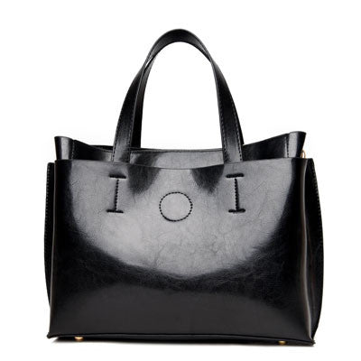 2016 Ladies Hand Bags Famous Brand Bags Logo Handbags Women Fashion Black Leather pochette Shoulder Bag Women Big Bags Purse