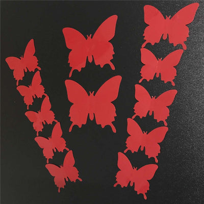 12pcs 3d PVC Wall Stickers Magnet Butterflies DIY Home Decor Poster Bar Bathroom Kitchen Accessories Gadgets Wall Decoration - upcube