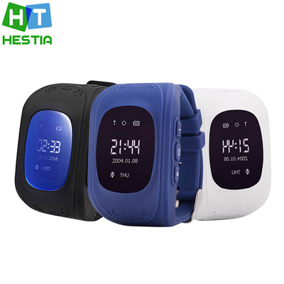HESTIA BRAND Smart Kid Safe GPS Q50 Watch Wristwatch SOS Call Finder Locator Tracker for Kid Child Anti-Lost Monitor Baby Gift