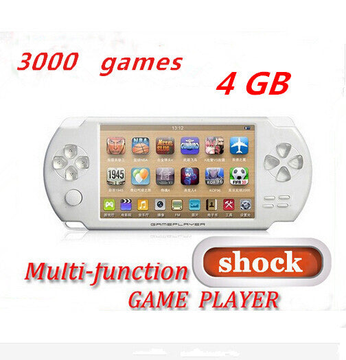 4.3 Inch 4G Shock Game Console Bulit in Camera FM  OUT Handheld Game Player Free 3000 Games For Adult And Children 5 Colors
