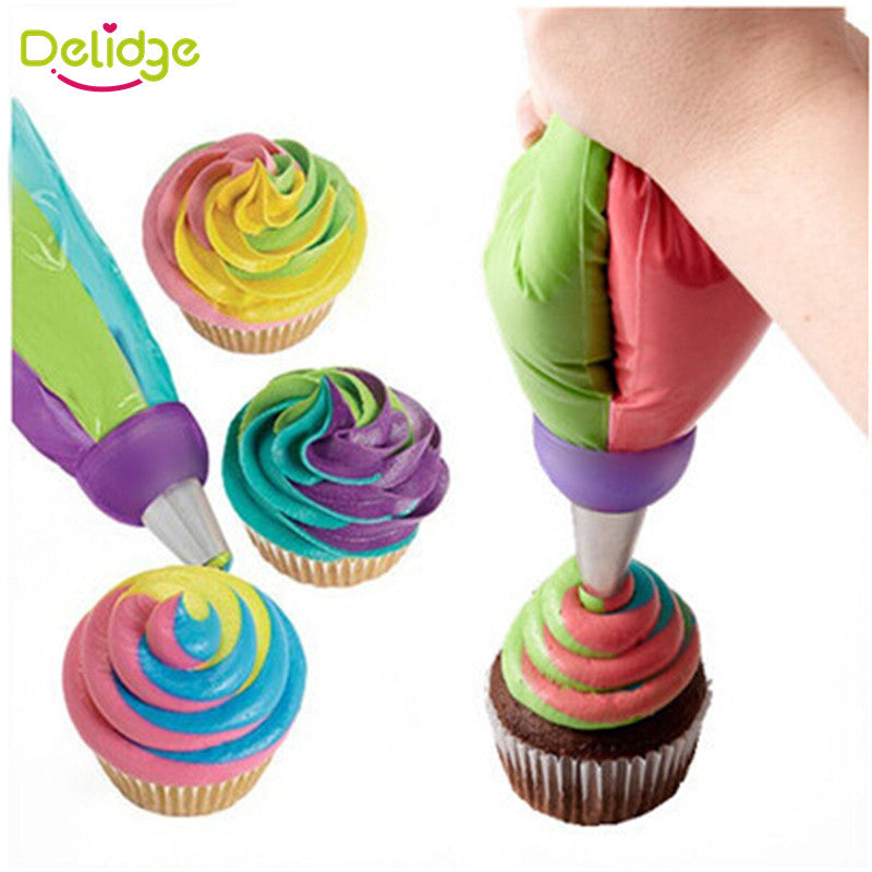 1 pcs 3 Holes Cake Decoration Converter Mix 3 Colors Icing Piping Nozzle Converter For Cupcake Nozzle Converter Connector - upcube