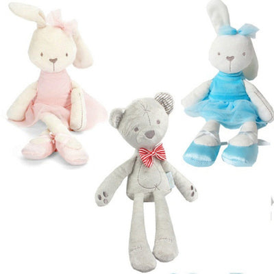 42cm 7Style Baby Toys Rabbit Sleeping Comfort Doll Plush Toys Millie Boris Smooth Obedient Rabbit Sleep Calm Doll Birthday Gifts  dailytechstudios- upcube