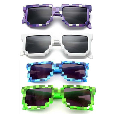 4 color! Fashion Minecraft Sunglasses Kids cos play action Game Toys Square Glasses with EVA case gifts for Men Women  dailytechstudios- upcube