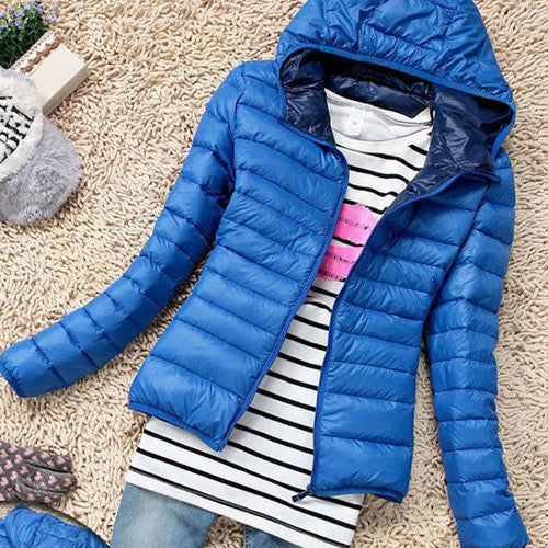 2015 Autumn Winter Women Basic Jacket Coat Female Slim Hooded Brand Cotton Coats Casual Black Jackets