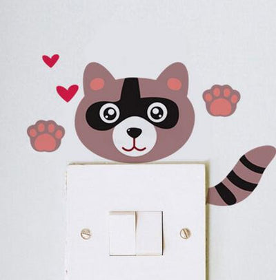 Cat DIY Switch Panel Stickers Lovely Bedroom Plane Wall Stickers Removable Manul Waterproof Home Decor Sticker Adesivo de Parede