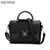 Hot Flap V Women's Luxury Leather Black Clutch Bag Ladies Handbags Brand Women Messenger Bags Sac A Main Femme 2016 Short Handle