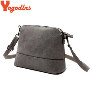 2016 New fashion women's messenger bag scrub shell bag Nubuck Leather small bags over the shoulder womens purses and handbags