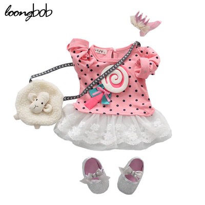 1pc Baby Girls Infant Party Dress T-shirts Toddler Sweet Cute Lollipops Full Sleeve Polka Lace Tops Dresses Costume Clothes  dailytechstudios- upcube