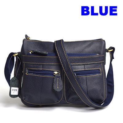 Guarantee 100% Genuine Leather Women's Messenger Vintage Shoulder Bag Female Cross-body Soft Casual Shopping Bags free shipping