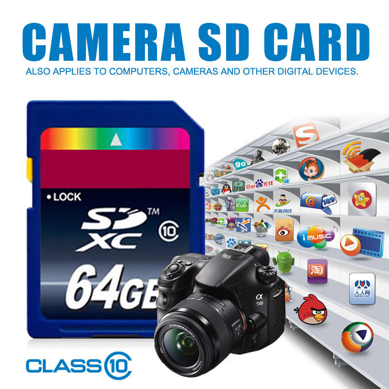 100% Full Size  SD card class 10 Flash card  64GB 32GB 16GB 8GB SDHC Memory Card SD Card microSDXC with Camera tablet PC  dailytechstudios- upcube