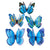 12pcs/lot Butterfly Wall Stickers Double Layer 3D Butterflies colorful bedroom living room Home Fridage Decor 4 color DA