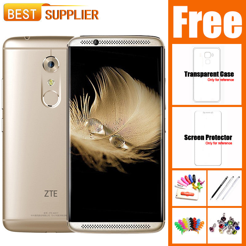 "2017 Hot Original ZTE Axon 7 Qualcomm Snapdragon 820 20.0MP 5.5"" 4GB RAM 64GB/128GB ROM Fingerprint NFC OTG 4G LTE Mobile Phone  dailytechstudios- upcube"