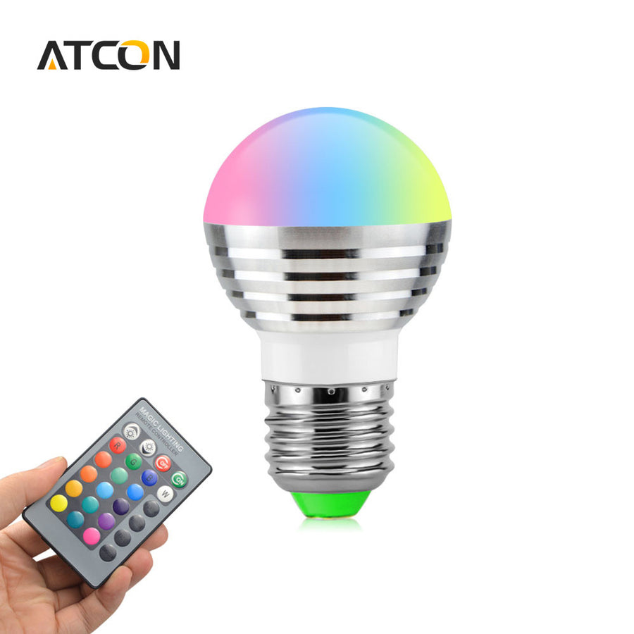 1Pcs Lovely 16 Colors RGB Christmas Decor Atmosphere LED Night light E27 5W 110V - 220V LED lamp Spotlight Bulb + IR Remote  dailytechstudios- upcube
