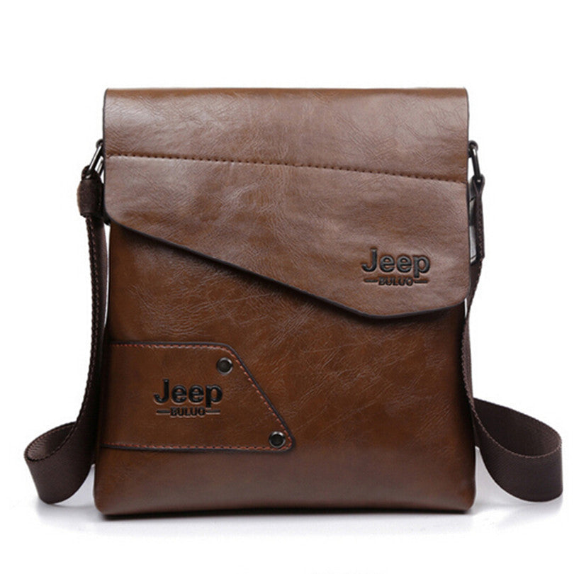 a224175084 2016 New Men leather famous brand JEEP Messenger Bags Fashion Casual  Business small Shoulder bags for