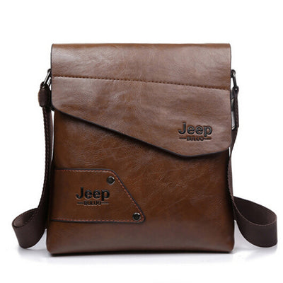 2016 New Men leather famous brand JEEP Messenger Bags Fashion Casual Business small Shoulder bags for man,Men's Travel Bags IPAD  dailytechstudios- upcube