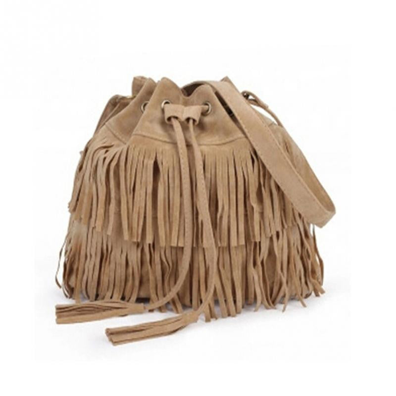 2016 Retro Faux Suede Fringe Women  Messenger Bags New Handbag Tassel Shoulder Handbags Crossbody Gift schoudertas dames