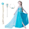 2015 elsa dress girls Costumes for kids snow queen cosplay dresses princess anna Dress children party dresses fantasia vestidos