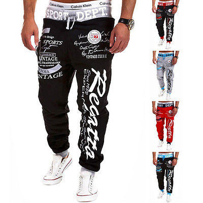 Men Hiphop Sweatpants Jogger Dance Sportwear Baggy Harem Slacks Trousers Pants H