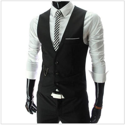 Mens Dress Vests For Men Suit Sleeveless Business Male For Vest Casual Formal Waistcoat Wedding Dresses Tactical Gilet Jacket
