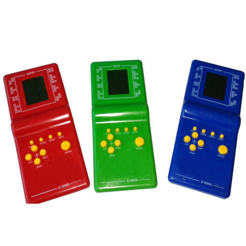 Portable Handled Developmental Children Toys Educational Game Players High Quality Tetris Game console For Kids