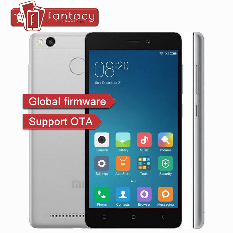 "Original Xiaomi Redmi 3s 4100mAh Snapdragon 430 Octa Core 2G RAM FDD LTE 4G Fingerprint ID 5.0 "" 13MP 1080P MIUI 8 Mobile Phones"