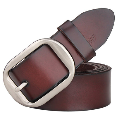 100% cowhide genuine leather belts for men brand Strap male pin buckle vintage jeans cowboy Cinto Masculino Casual belt