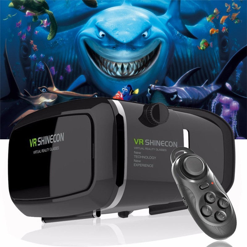 Hot!2017 Google Cardboard VR shinecon Pro Version VR Virtual Reality 3D Glasses +Smart Bluetooth Wireless Remote Control Gamepad