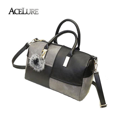 Women pu leather shoulder bags new female patchwork handbags hot sale ladies crossbody bags casual pillow bags sac a main