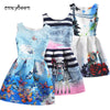 2017 Summer Style Sleeveless Mother&kids Dress Girl Dress Printed Kids Dresses Girls Clothes Party Princess Dress White Nina