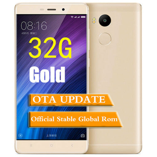 Original xiaomi redmi 4 prime Metal Body 32GB ROM Snapdragon 625 Mobile Phone 4100mAh Battery Fingerprint ID 5.0""