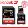 100% Original SanDisk 16GB 32GB 64GB 128GB Extreme PRO SDHC SDXC UHS-I High Speed Memory Card C10 SD Camera Class 10 95MB/s  dailytechstudios- upcube