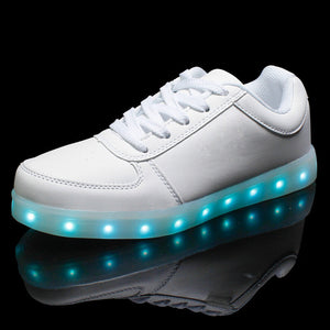 2016 Men Colorful glowing shoes with lights up led luminous shoes a new simulation sole led shoes for adults neon basket led