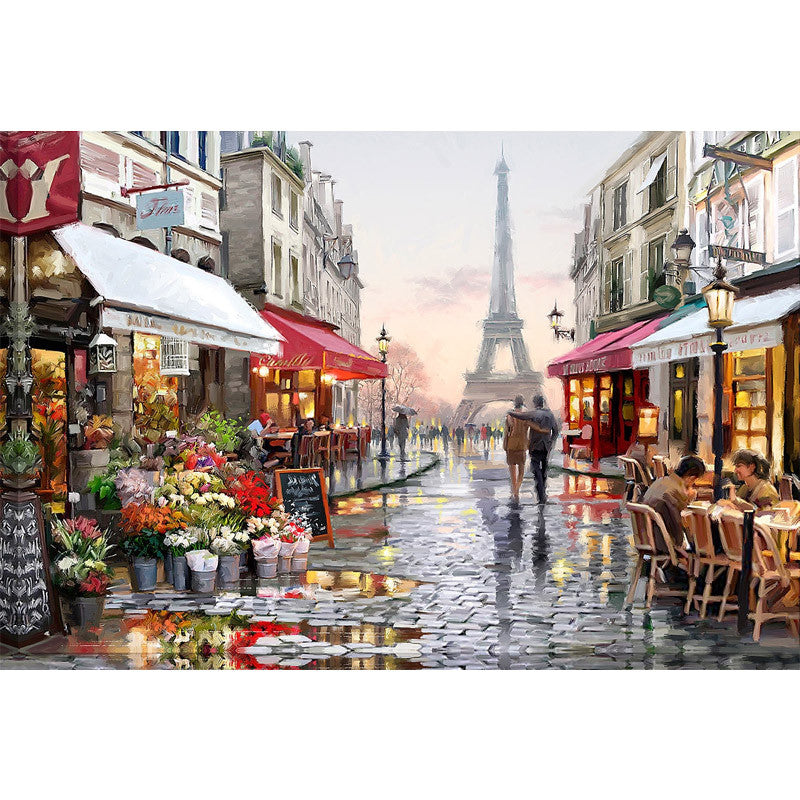 Diy digital oil painting by numbers paint drawing coloring by number canvas hand painted picture wall decor eiffel towel E190