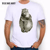 2016 New bear  FROM RUSSIA WITH LOVE printed men's casual t-shirt male retro hipster animal tops tee  dailytechstudios- upcube