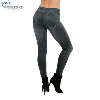 2017 Leggings Jeans for Women Denim Pants with Pocket Slim Jeggings Fitness Plus Size Leggins S-XXL Black/Gray/Blue