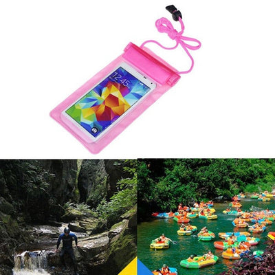 bag Waterproof Cases Covers Phone Coque para Case Cover For 5.5 inch Phone Camera Mobile phone bags 1PCS Clear Pouch Dry Leohion