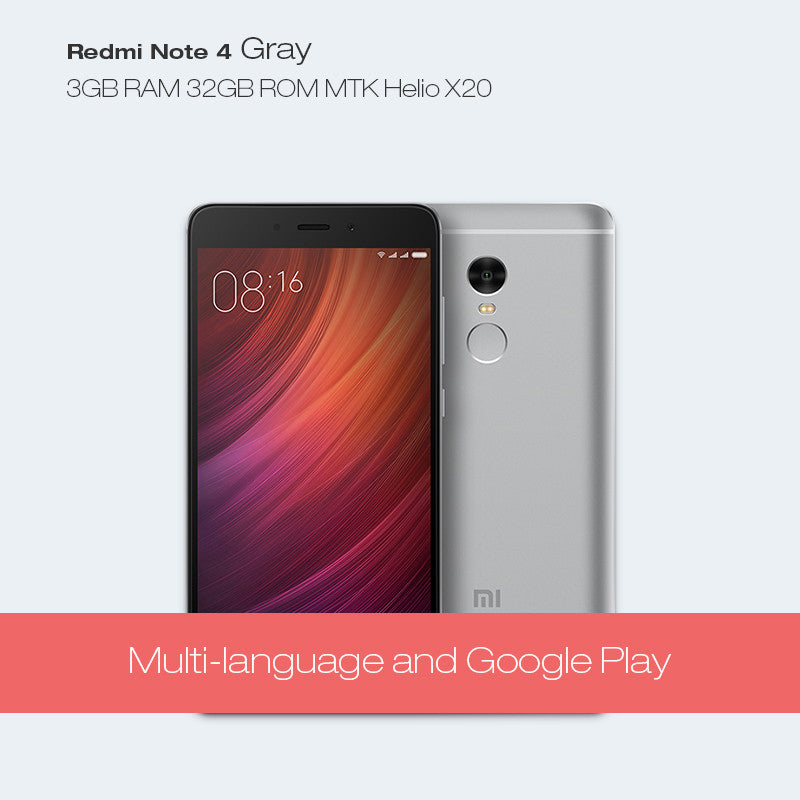 Dreami Original Xiaomi Redmi Note 4 Prime 3GB RAM 32GB ROM MTK Helio X20 Deca Core 13MP Note4 Cellphone Fingerprint Mobile Phone