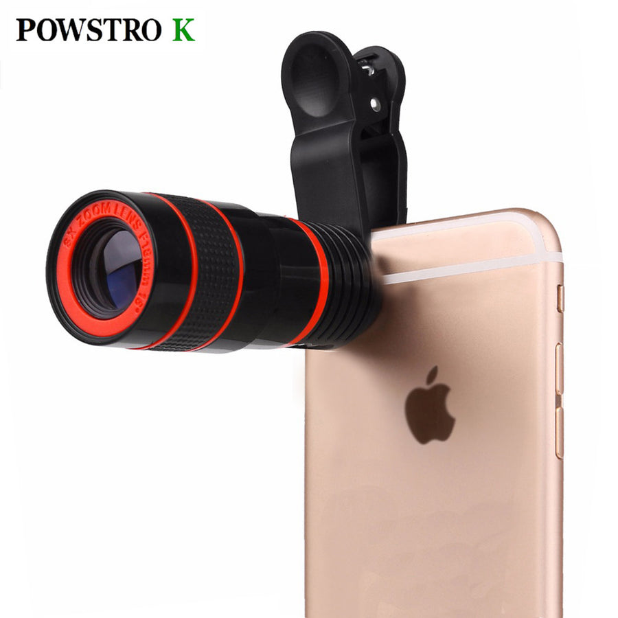 8x Zoom Optical Phone Telescope Portable Mobile Phone Telephoto Camera Lens and Clip for iPhone Samsung HTC Huawei Etc