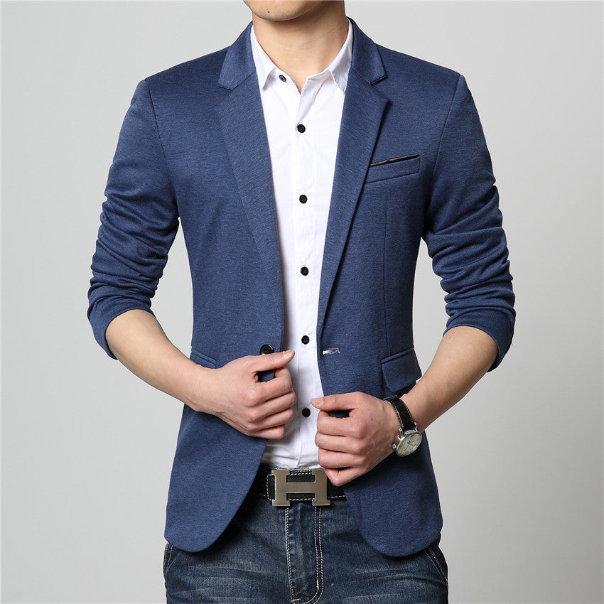 2017 New Fashion Casual Men Blazer Cotton Slim Korea Style Suit Blazer Masculino Male Suits Jacket Blazers Men Plus Size M-6XL