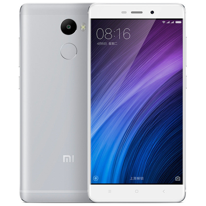 "Original Xiaomi Redmi 4 2G RAM 16GB 4100mAh Snapdragon 430 Octa Core FDD LTE 4G Fingerprint ID 5"" 13MP OTA MIUI 8.1 Mobile Phone"