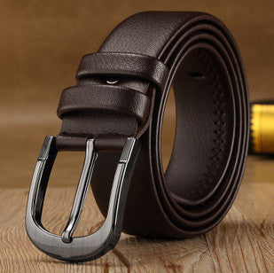 [KAITESICZI]  2016 new 100% cowhide tide men's leather belt male casual pin buckle belt belt men's fashion belt